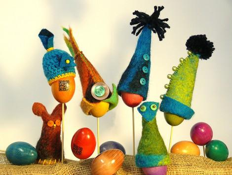 Filcowe czapeczki na jajka i pisanki - producent